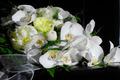 Wedding bouquet on black piano - PhotoDune Item for Sale