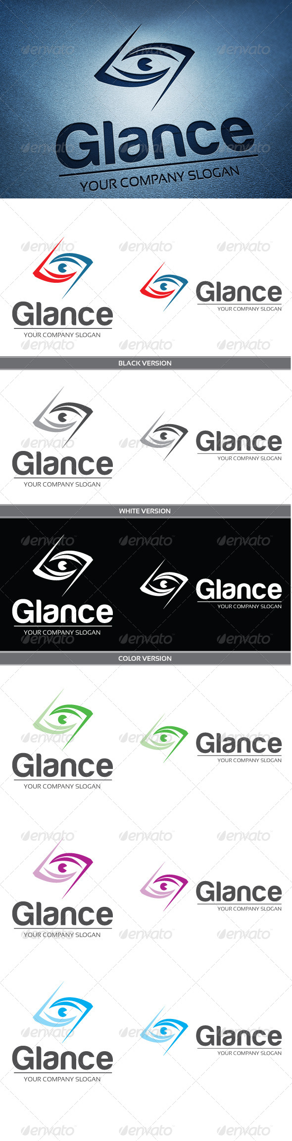 Glance - Objects Logo Templates
