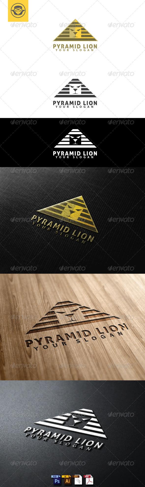 Pyramid Lion Logo Template - Animals Logo Templates