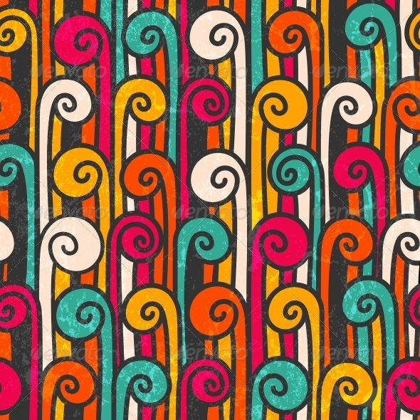 Seamless Colorful Abstract Background - Patterns Decorative