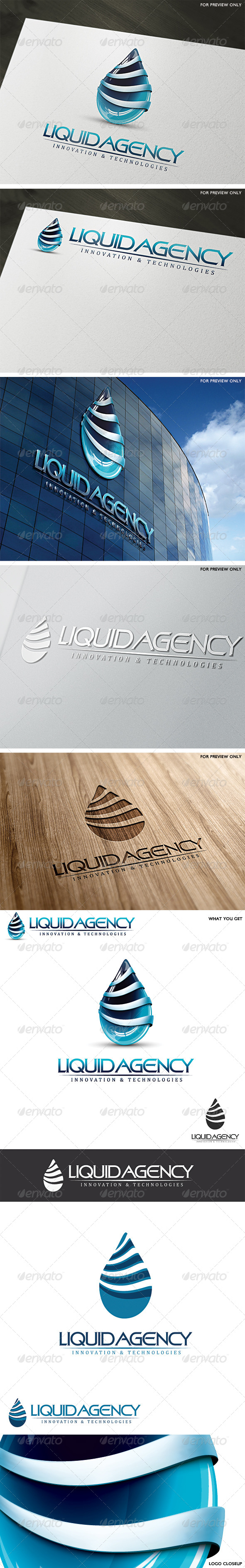 3D Liquid Agency Logo Template - 3d Abstract