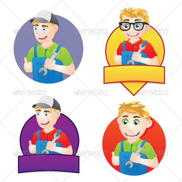 Handyman Character - People Characters
