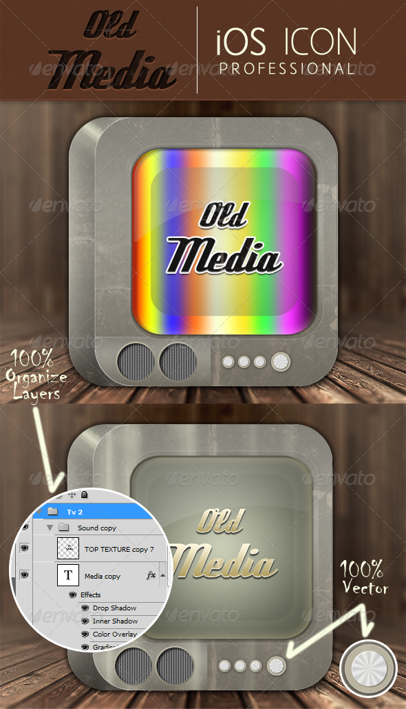 Old Media Application Icon - Icons