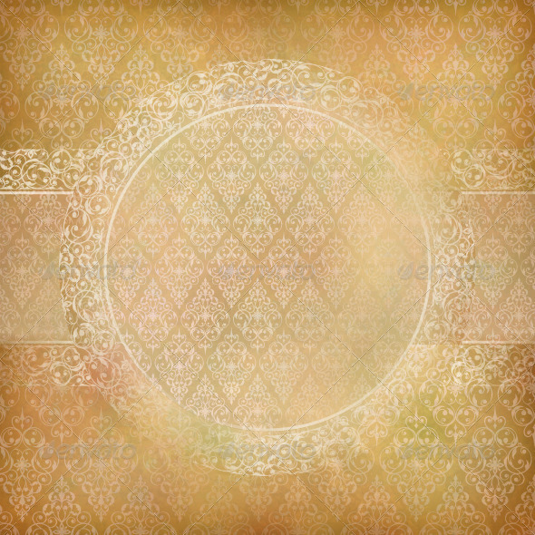 Lace Banner Card Abstract Vintage Background  - Backgrounds Decorative
