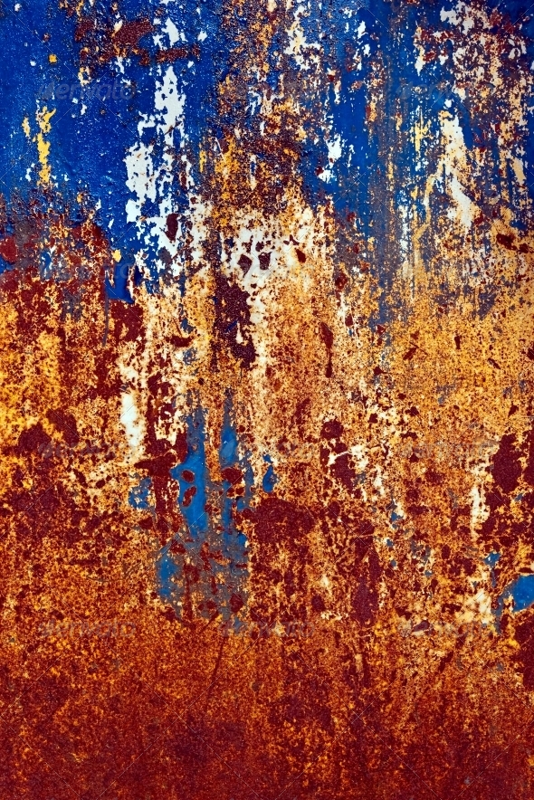 Colored grunge iron background - Metal Textures