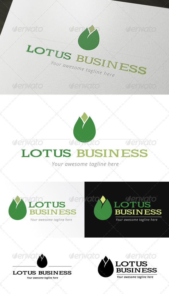 Lotus Business Logo Template - Objects Logo Templates