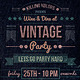 Vintage Retro Party Flyer - GraphicRiver Item for Sale