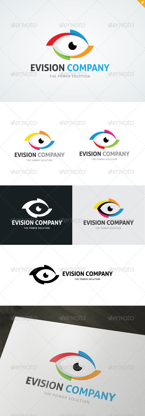 Evision Company Logo - 3d Abstract