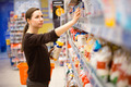 A young girl in a grocery supermarket - PhotoDune Item for Sale
