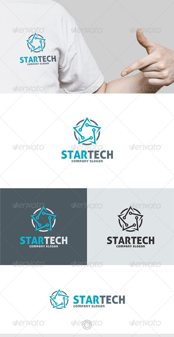 Star Tech Logo - Vector Abstract