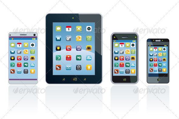 Smartphones and Tablet with Applications - Technology Conceptual
