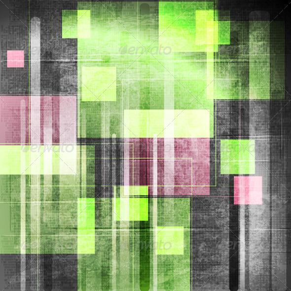 Colourful Grunge Tech Vector Design - Backgrounds Decorative