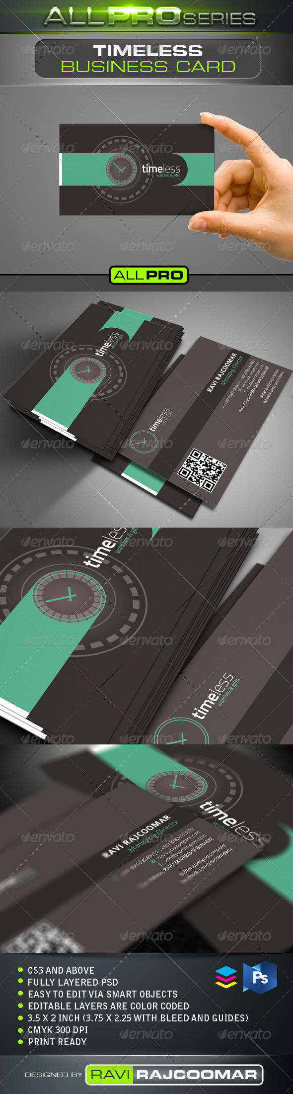 Timeless Business Card Template - Creative Business Cards