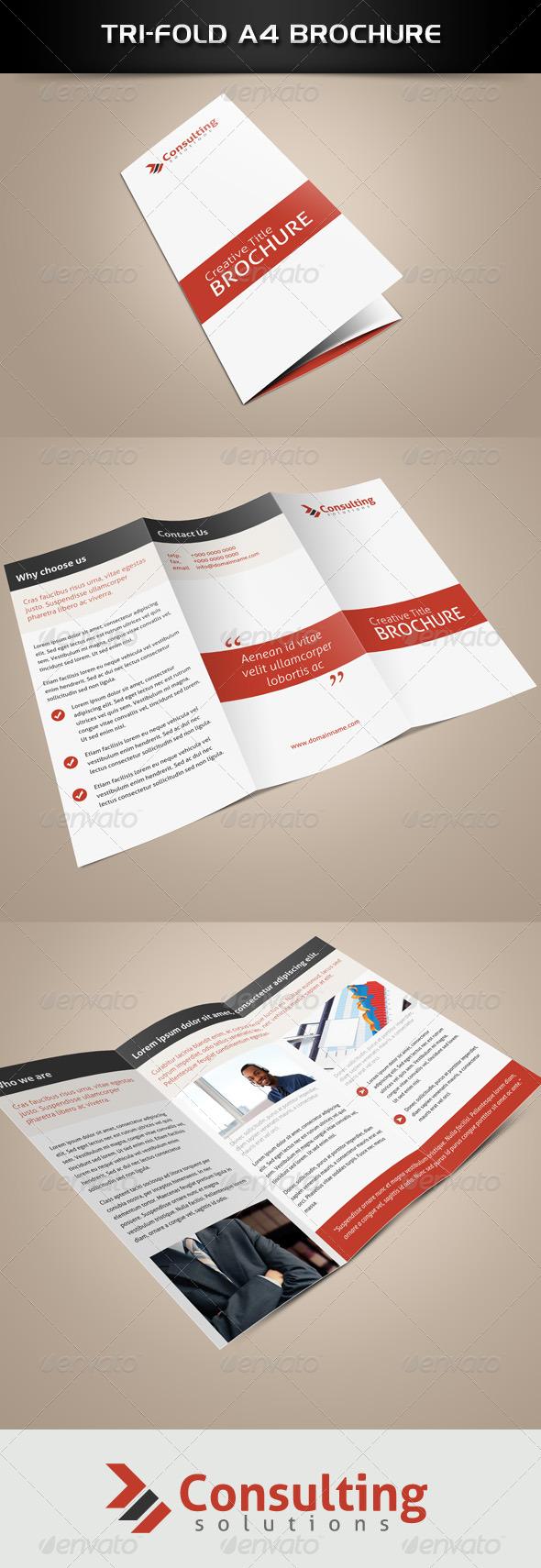 Tri-Fold Consultation Brochure - Brochures Print Templates