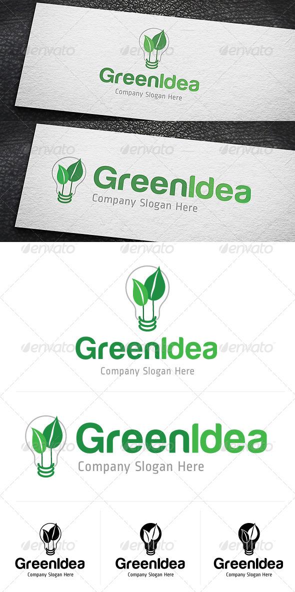 Green Idea Logo Template - Objects Logo Templates