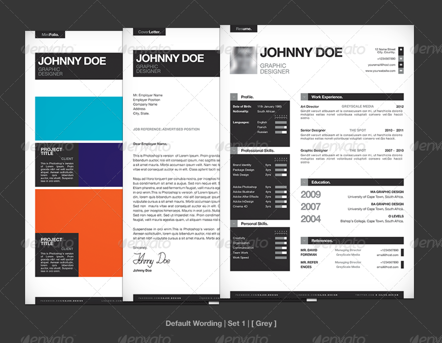 Simple Resume / CV Template + Mini Portfolio