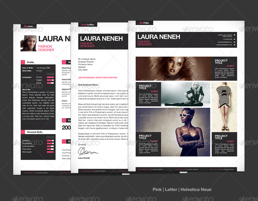 simple resume    cv template   mini portfolio by cajoe