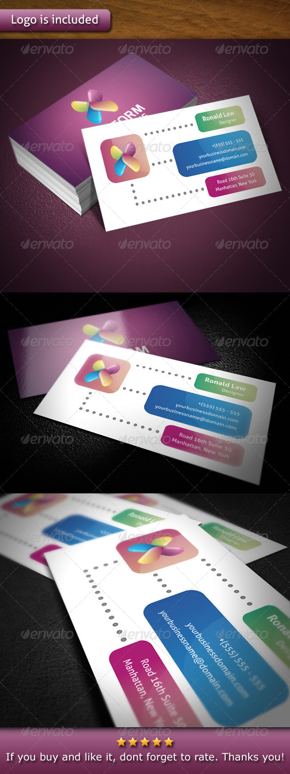Xiliform Logo Template Business Card - Creative Business Cards