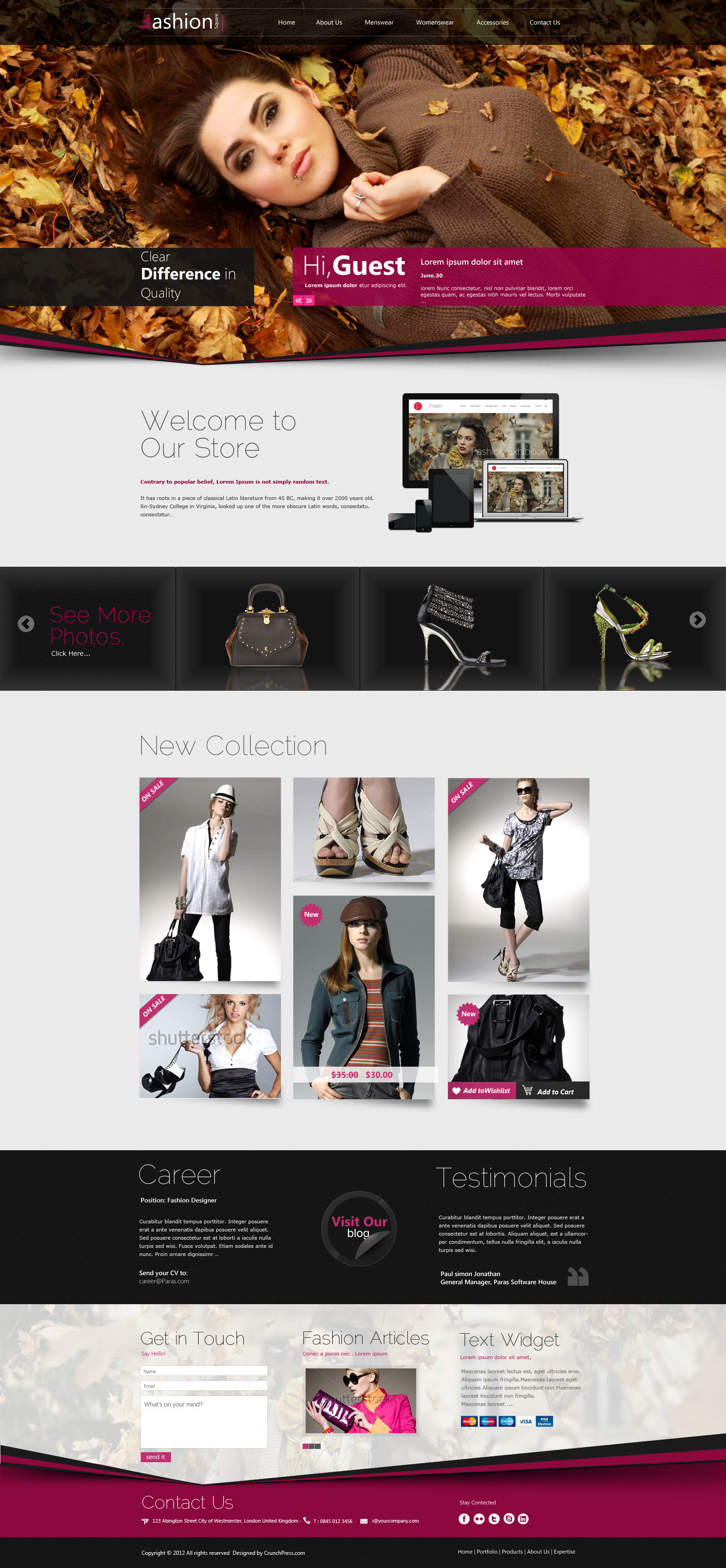 Fashion Shop Responsive WordPress Theme by CrunchPress   ThemeForest