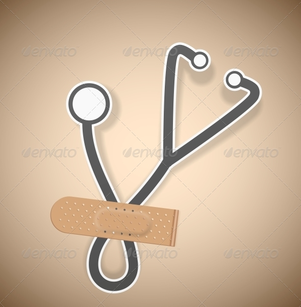 Plaster and Stethoscope - Health/Medicine Conceptual