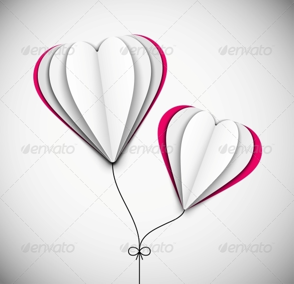 Two Hearts - Decorative Symbols Decorative