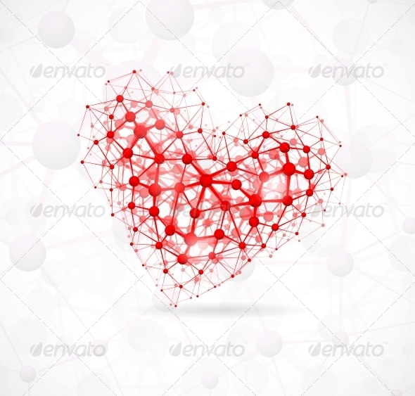Molecular Heart - Health/Medicine Conceptual