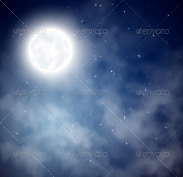 Night Sky Background - Landscapes Nature