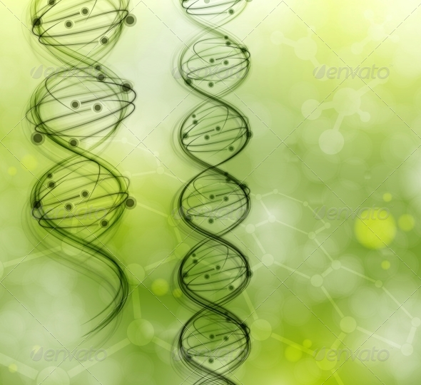 DNA Molecules - Health/Medicine Conceptual
