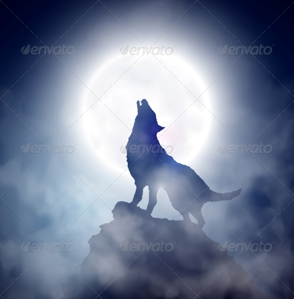 Howling Wolf - Animals Characters