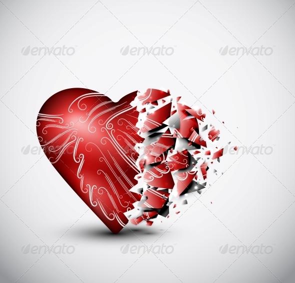 Broken Heart - Decorative Symbols Decorative