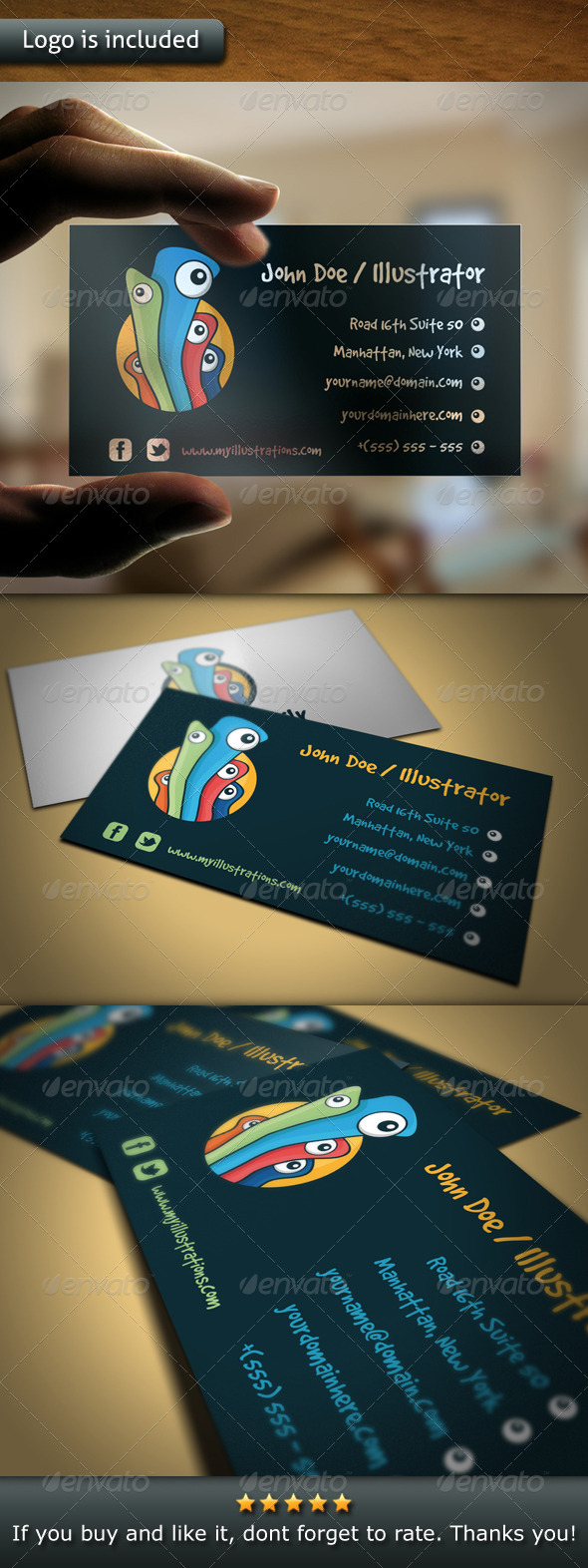 Illustration Logo Business Card - Creative Business Cards