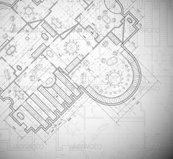 Architectural Plan - Backgrounds Decorative
