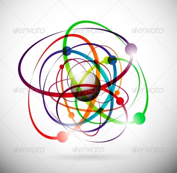 Abstract Atom - Decorative Symbols Decorative