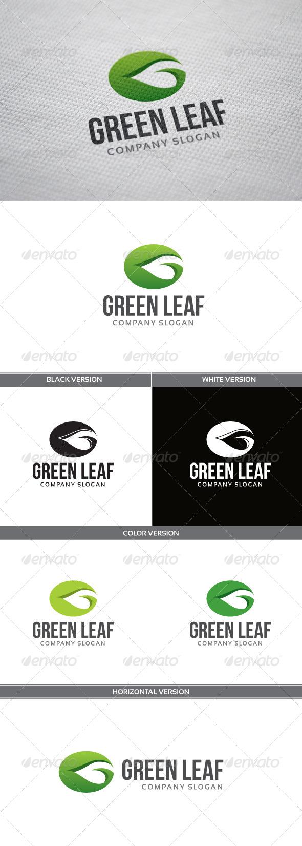 Green Leaf Logo - Letters Logo Templates