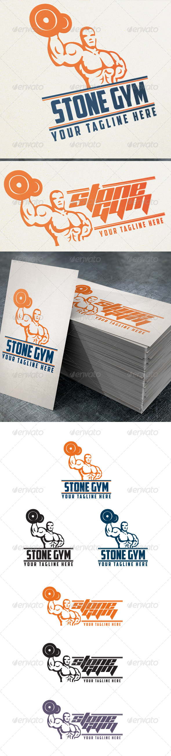 Stone Gym - Humans Logo Templates