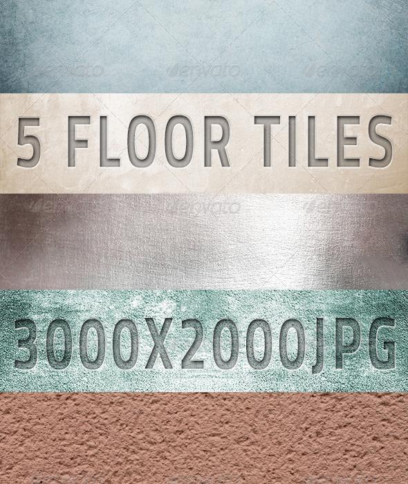 5 Ceramic & Sandstone Tiles - Stone Textures