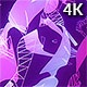 Purple Ribbons And Polygons 4K - VideoHive Item for Sale