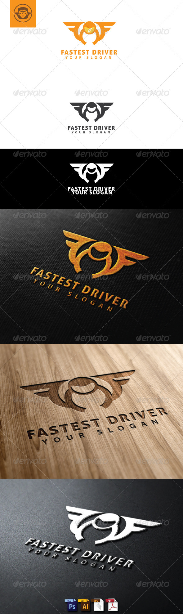 Fastest Driver Logo Template - Humans Logo Templates