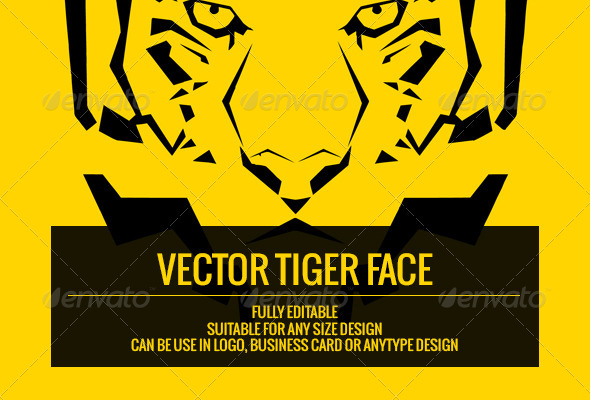 Vector Tiger Face - Animals Characters