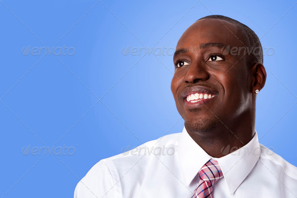 Happy African American business man - Stock Photo - Images