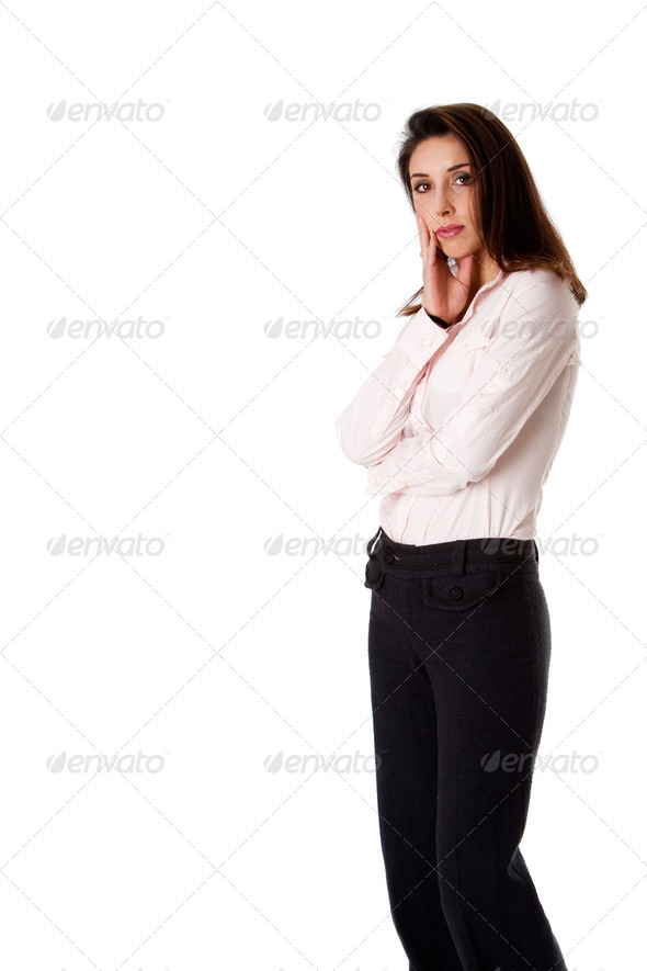 Standing business woman - Stock Photo - Images