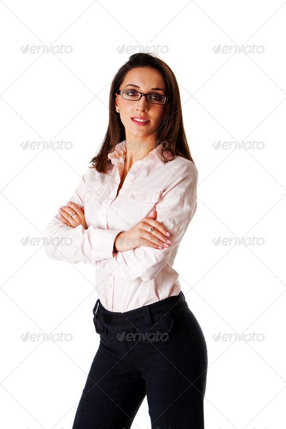 Confident business woman - Stock Photo - Images