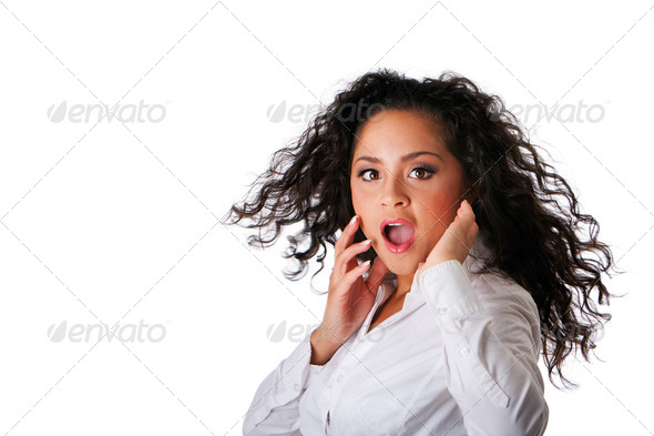 Surprised business Latina woman - Stock Photo - Images
