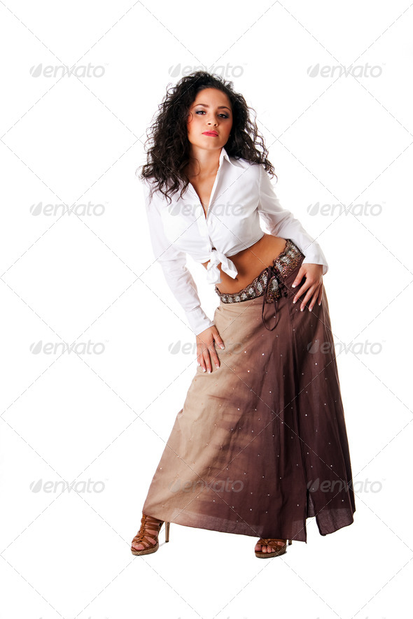 Sexy young Latina woman - Stock Photo - Images