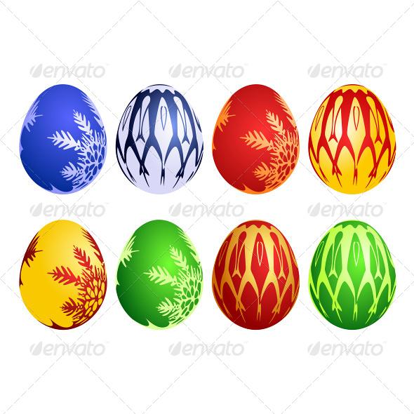 Easter Egg Vector Set - Seasons/Holidays Conceptual