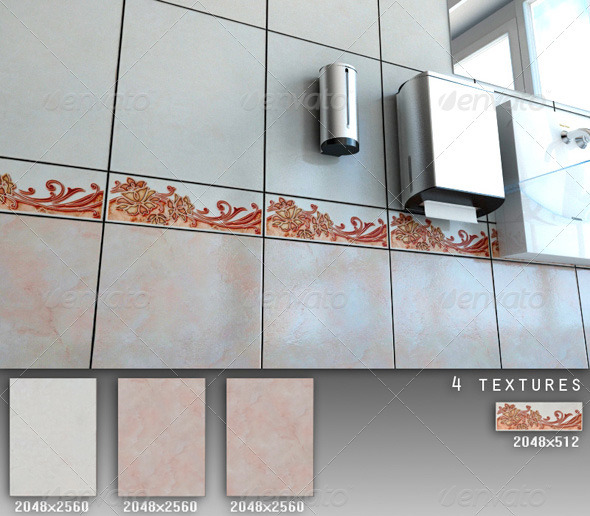 Professional Ceramic Tile Collection C041 - 3DOcean Item for Sale