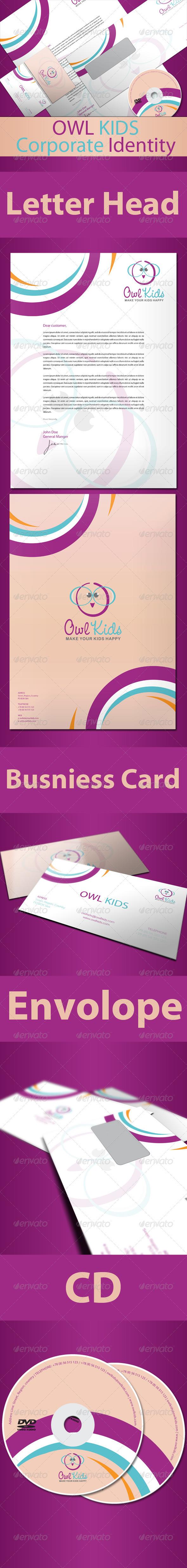 Owl Kids Corporate Identity - Stationery Print Templates