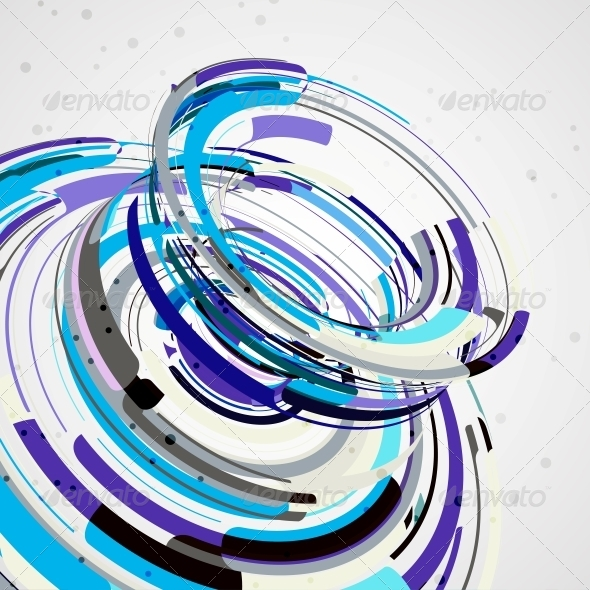 Futuristic Abstract Shape Illustration - Abstract Conceptual