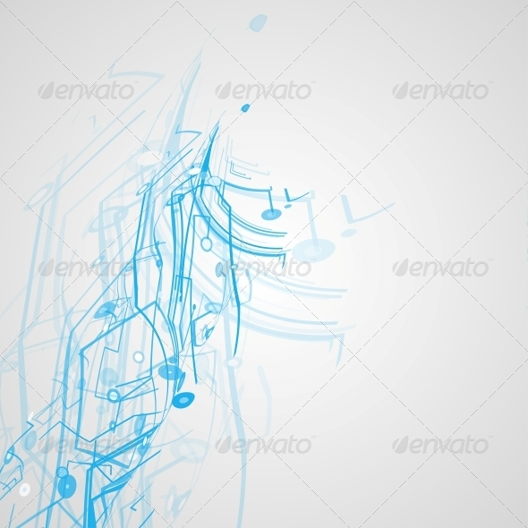 Futuristic Technology Illustration - Abstract Conceptual