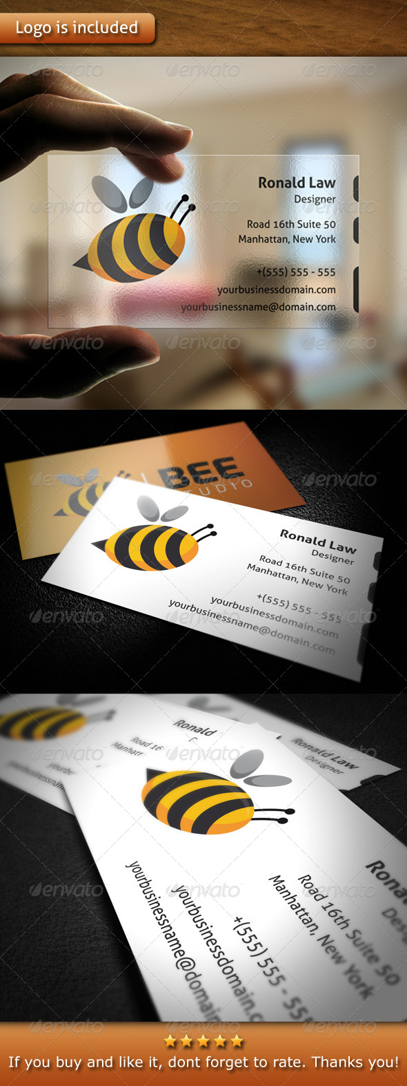 Bee Studio Business Card - Creative Business Cards